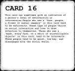Inkblot Test Card 16 Answer
